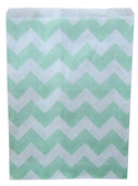 Aqua Chevron Treat Bags