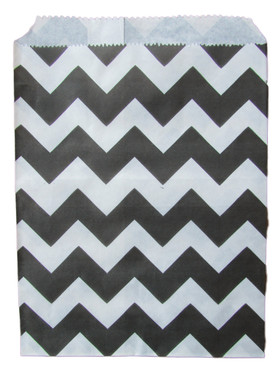 Black Chevron Treat Bags