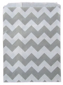 Gray Chevron Treat Bags