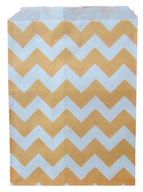 Orange Chevron Treat Bags