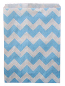 Light Blue Chevron Treat Bags