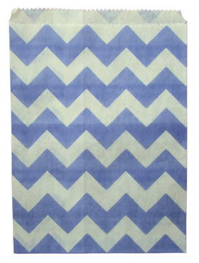 Purple Chevron Treat Bags
