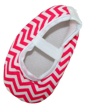 Hot Pink Chevron Crib Shoes