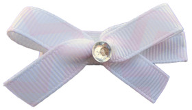 Small Lavender Chevron Bow Clips