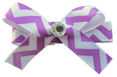 Purple Chevron Bow Clips