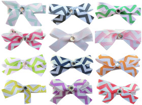 Small Assorted Chevron Bow Clips