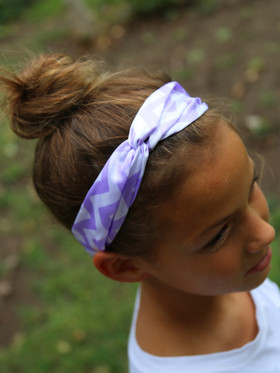 Lavender Chevron Turban Headbands