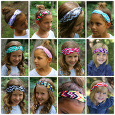 Assorted Chevron Turban Headbands