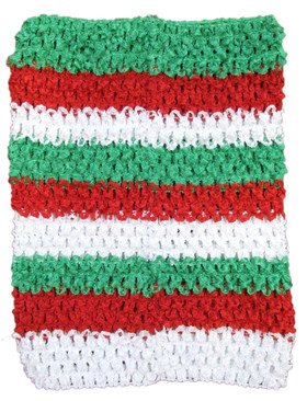 Red, White and Green Tutu Top Crochet Headband