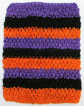 Orange, Purple and Black Tutu Top Crochet Headband