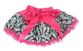 Damask Hot Pink Pettiskirt