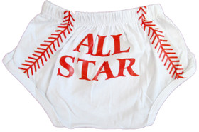 Baseball All Star Boy Diaper Cover