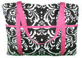 Damask and Hot Pink Diaper Bag Girls Womens