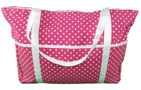 Cute Girls Hot Pink with White Polka Dots Diaper Bag