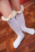 White Boot Socks for Teens