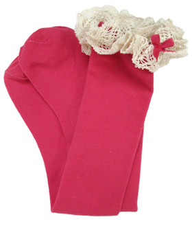 Hot Pink Boot Socks for Women