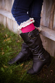 Hot Pink Boot Socks for Girls