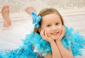 Turquoise Chandelle Feather Boa