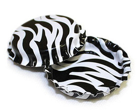 Zebra Bottle Cap