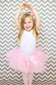 5 Layer Two-Toned Dance Tutu Light Pink and White