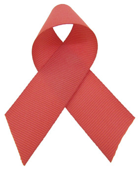 Coral Grosgrain Ribbon