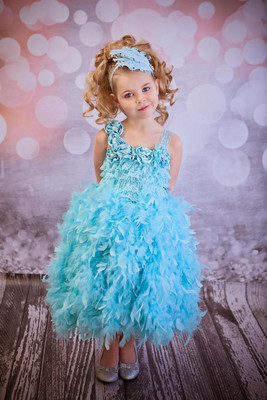 Aqua Feather Dress
