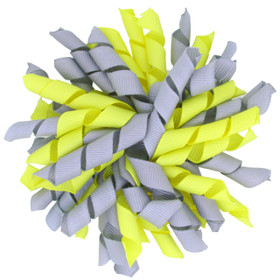 Grey & Yellow Korker Bows