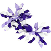 Purple, Lavender & White Curly Mini Korker Bows