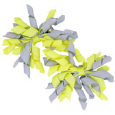 Gray & Yellow Curly Mini Korker Bows