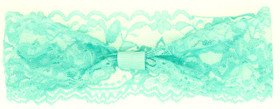 Aqua Wide Lace Headbands