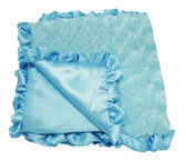 Light Blue Minky Baby Blanket