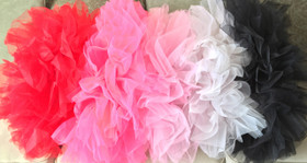 White Adult Teen Older Girl Organza Tutu
