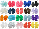 Pinwheel Bow Assortment On Lined Alligator Clips