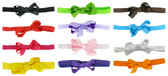 Assorted Mini Hair Bows on Fold Over Elastic Headbands