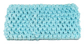 "Frozen Aqua 2.75"" Medium Crochet Headbands"