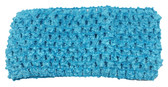 "Turquoise 2.75"" Medium Crochet Headbands"