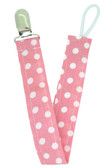 Light Pink Polka Dot Pacifier Clip