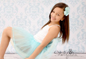 Sequin Lined Dance Tutu Frozen Aqua