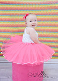 Sequin Lined Dance Tutu Neon Pink