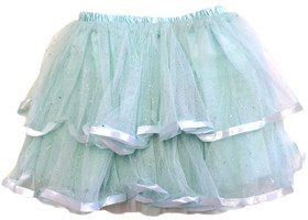 Frozen Aqua 2 Tier Ribbon Lined Dance Tutu