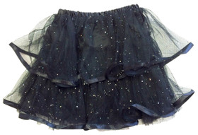 Black 2 Tier Ribbon Lined Dance Tutu