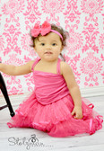 2 Tier Ribbon Lined Dance Tutu Hot Pink