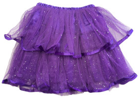 Purple 2 Tier Ribbon Lined Dance Tutu
