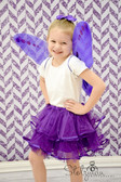 2 Tier Ribbon Lined Dance Tutu Purple