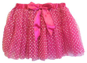 Hot Pink Tutu with White Polka Dots