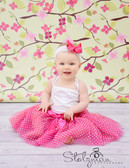 Hot Pink White Polka Dots Tutu