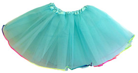 Frozen Aqua Rainbow Lined Dance Tutu