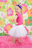 Rainbow Lined Dance Tutu White