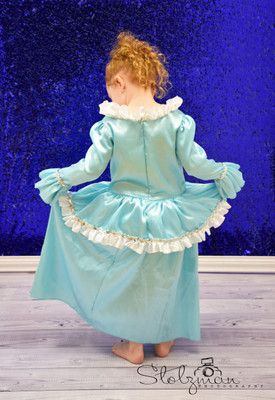 Frozen Aqua Princess Costume Dress 4-6T
