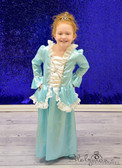 Frozen Aqua Princess Costume Dress 4-6T Model